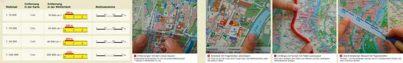 | Maßstab und Entfernungen | Magdeburg - Maßstab und Entfernungen | Karte 8/2