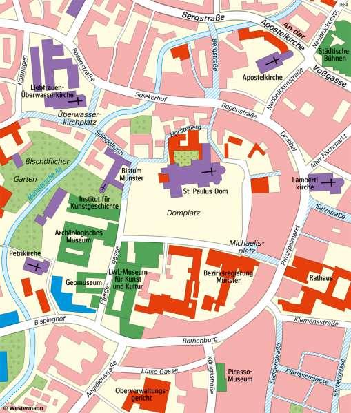 | Unterschiedliche Maßstäbe am Beispiel von Münster (Westfalen) | Maßstab | Karte 8/1