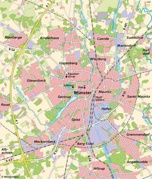 | Unterschiedliche Maßstäbe am Beispiel von Münster (Westfalen) | Maßstab | Karte 9/1