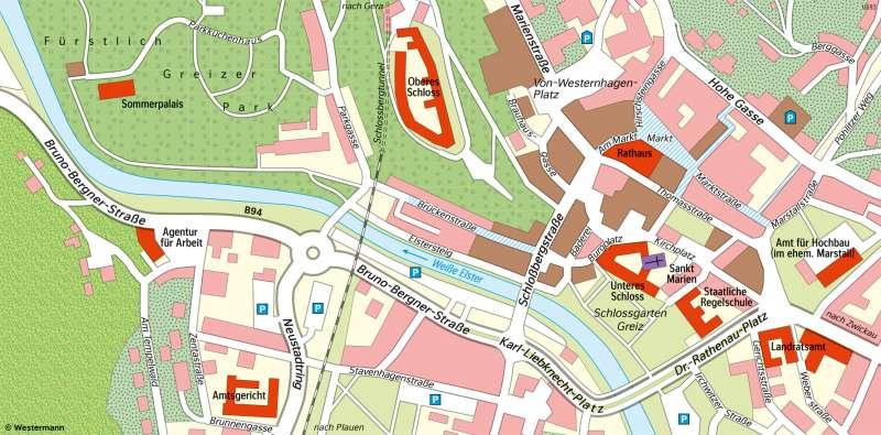 Greiz | Karte | Greiz - Vom Bild zur Karte und Kartentypen | Karte 6/3