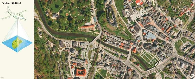 Greiz | Senkrechtluftbild | Greiz - Vom Bild zur Karte und Kartentypen | Karte 6/2