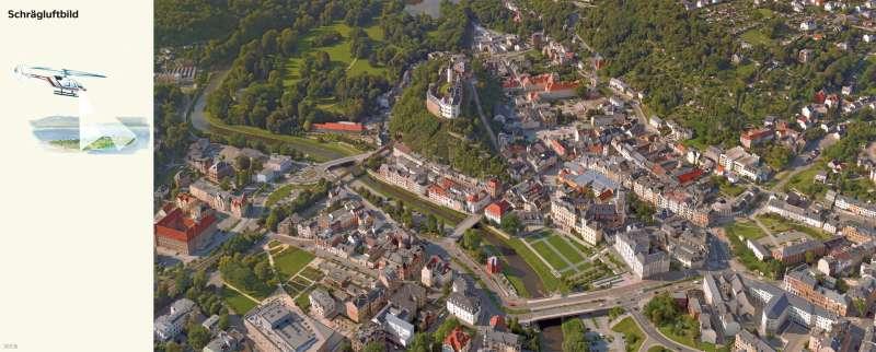 Greiz | Schrägluftbild | Greiz - Vom Bild zur Karte und Kartentypen | Karte 6/1