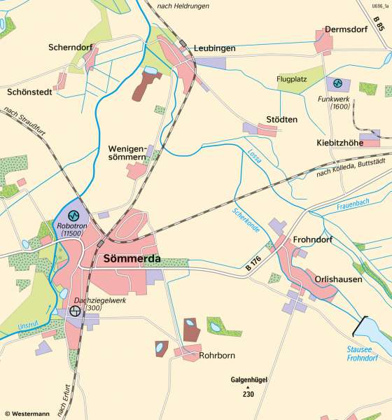Sömmerda | WirtschaftsstandortundIndustrietradition | Thüringen - Wirtschaft | Karte 19/2