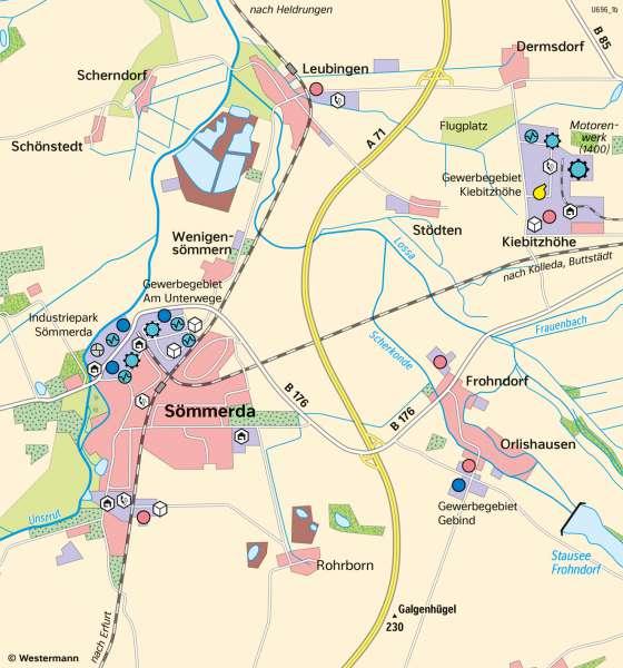Sömmerda   WirtschaftsstandortundIndustrietradition   Thüringen - Wirtschaft   Karte 19/2