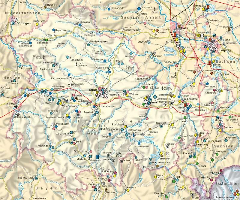 Thüringen | Wirtschaft | Thüringen - Wirtschaft | Karte 18/1