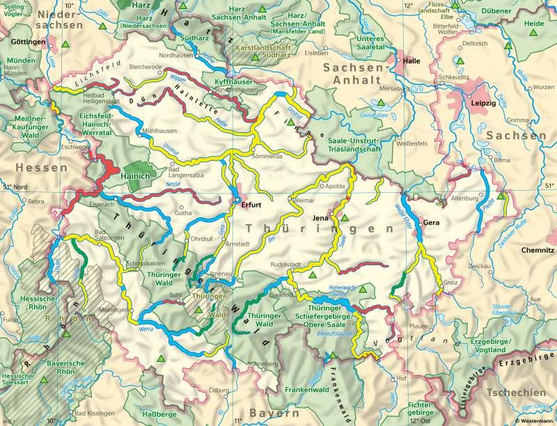Thüringen | UmweltundNaturschutz | Thüringen - Umwelt und Energie | Karte 24/1