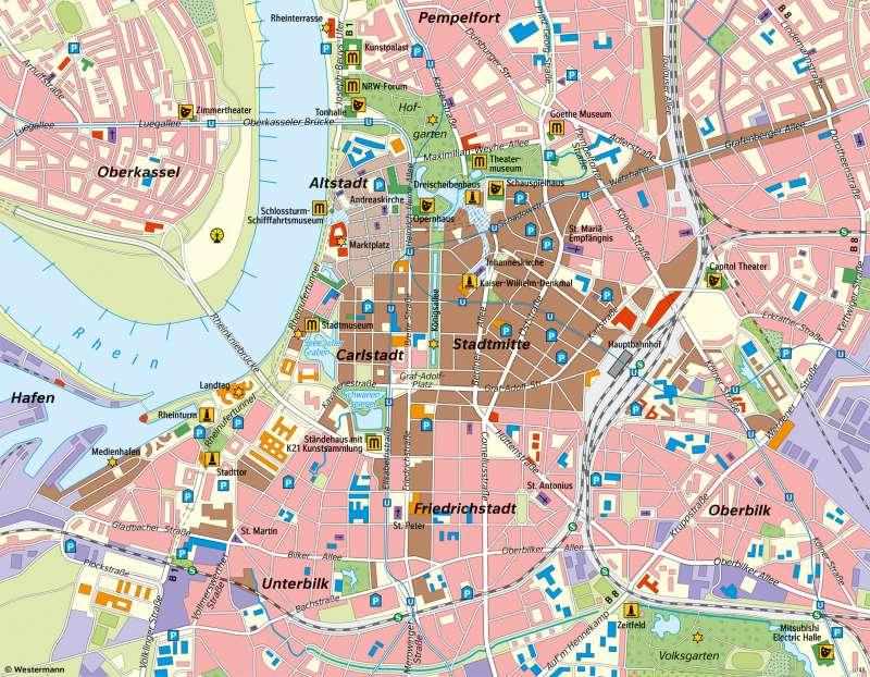 Düsseldorf | Sehenswürdigkeiten der Landeshauptstadt | Düsseldorf - Tourismus | Karte 23/2