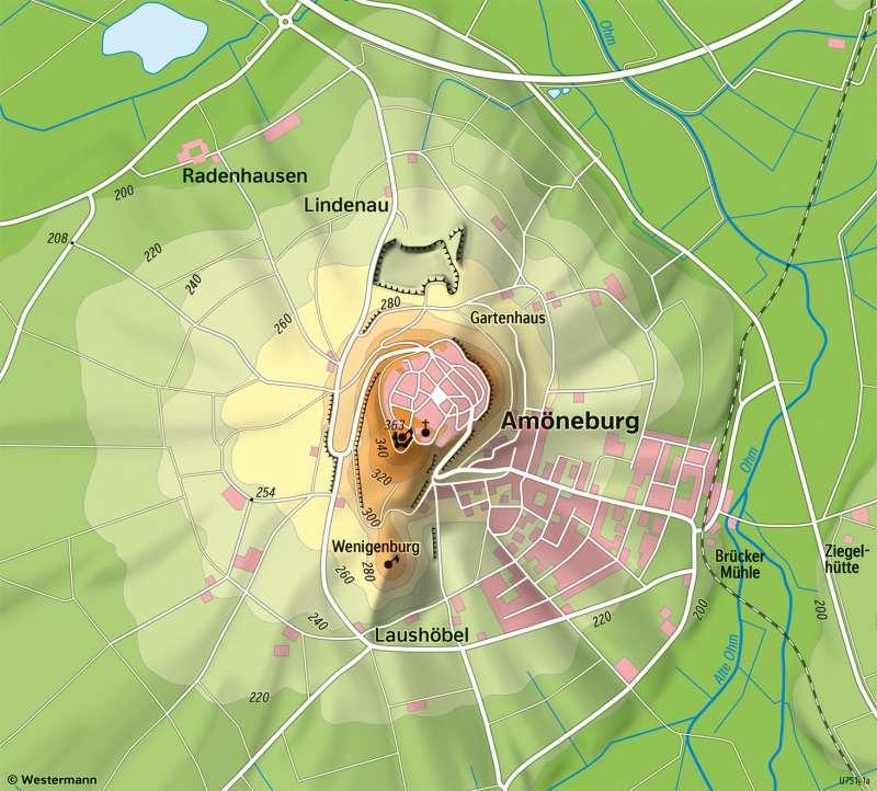 Amöneburg | Physische Karte | Amöneburg - Vom Bild zur Karte | Karte 6/3