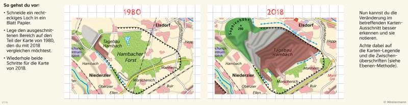 | Den Wandel von Räumen mit der Fenstermethode untersuchen | Landschaftswandel durch Bergbau | Karte 24/3