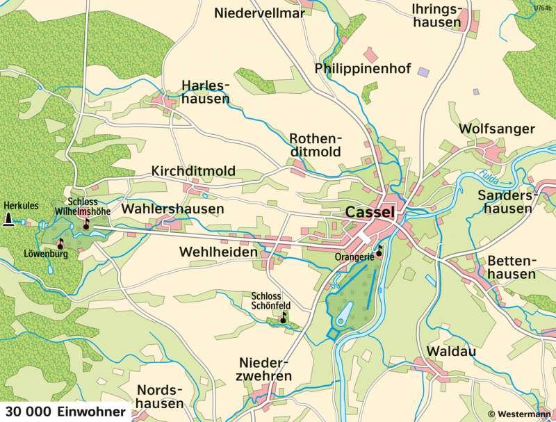 Kassel   Entwicklung von der Residenzstadt zur Großstadt   Kassel - Territorialentwicklung und Stadtwachstum   Karte 26/5