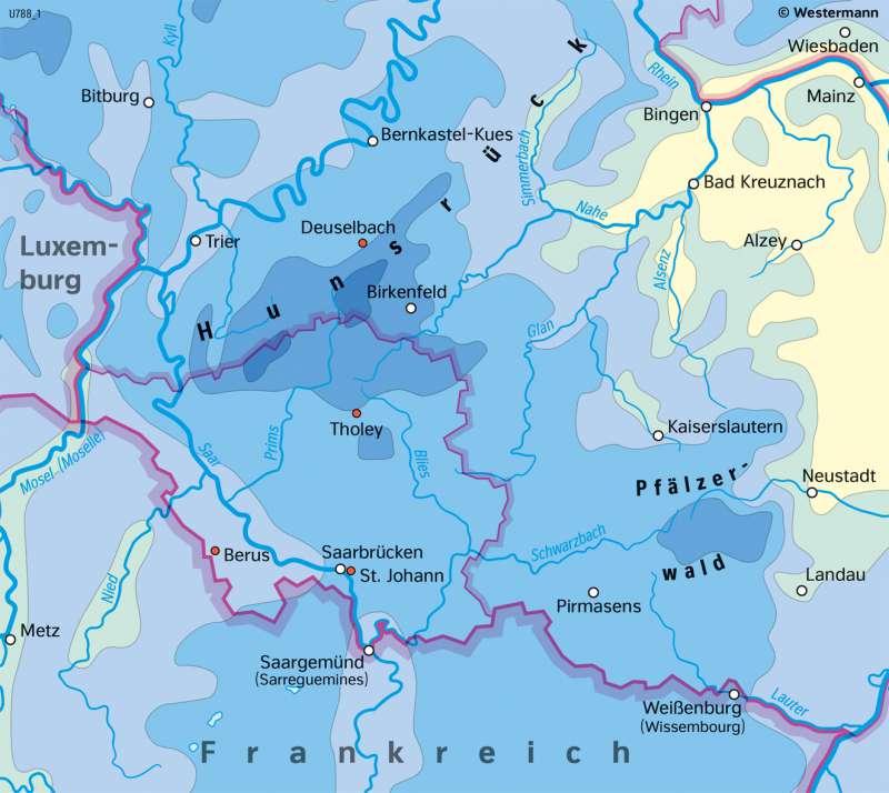 Saarland | Niederschläge | Saarland - Umwelt und Klima | Karte 17/3