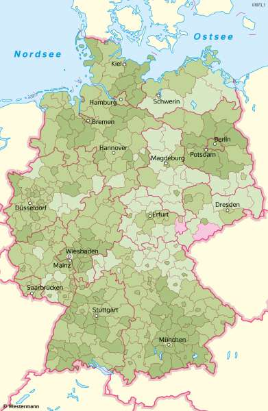 Deutschland | Bevölkerungswanderung | Deutschland - Bevölkerung | Karte 49/3