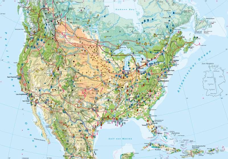 USA | Wirtschaft | Vereinigte Staaten von Amerika (USA) - Wirtschaft | Karte 154/1