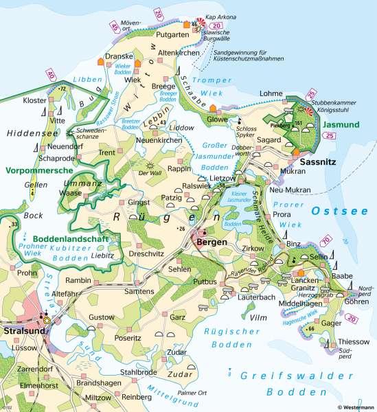 Karte Rügen.Diercke Weltatlas Kartenansicht Rügen Naturschutz Und