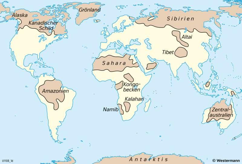 Erde | Weitgehend unberührte Weltregionen heute | Geschichte - Geographische Entdeckungen | Karte 203/4