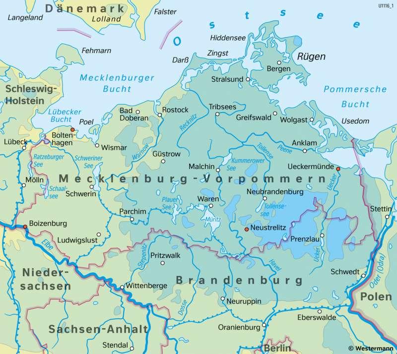 Mecklenburg-Vorpommern | TemperaturenimWinterhalbjahr | Mecklenburg-Vorpommern - Klima und Landwirtschaft | Karte 16/1