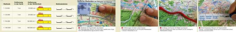 | Maßstab und Entfernungen | Eisenach - Maßstab | Karte 8/2