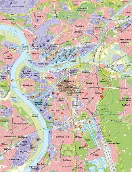 DuisburgerHäfen | Wirtschaft und Verkehr | Duisburger Häfen - Eine Karte lesen und auswerten | Karte 10/1