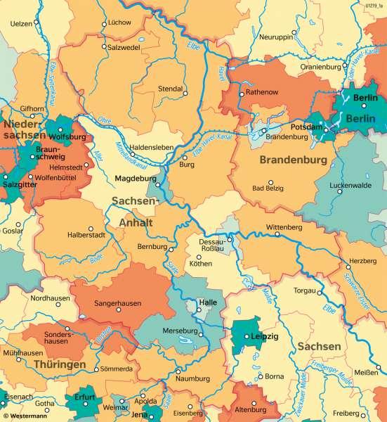 Sachsen-Anhalt   Wirtschaftsleistung   Sachsen-Anhalt - Wirtschaft   Karte 23/3