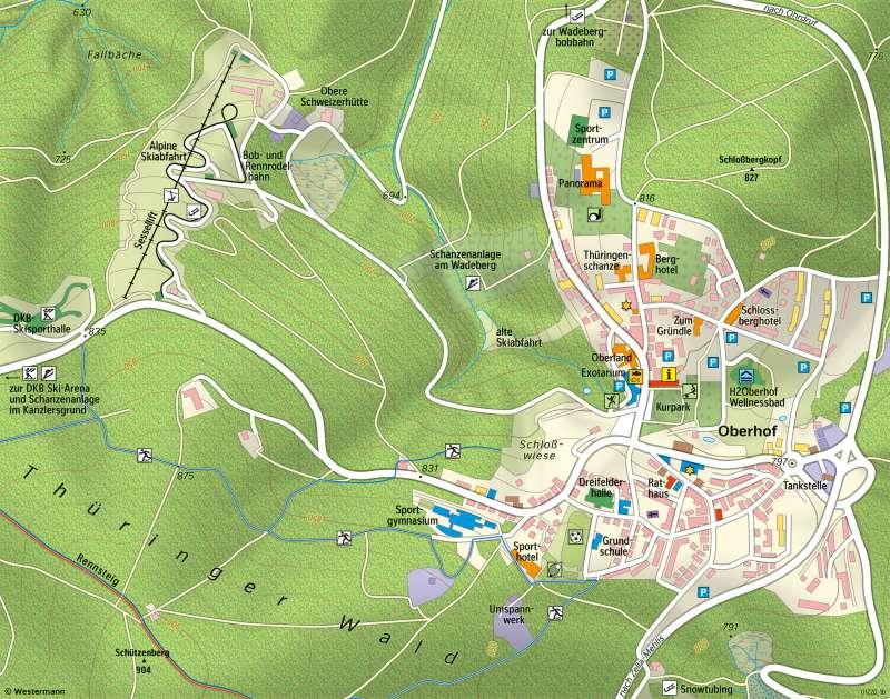 Oberhof | Vom Kurort zum Wintersportzentrum | Oberhof - Raum im Wandel | Karte 28/1