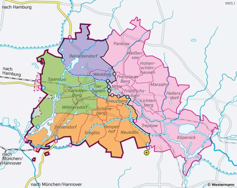 Berlin | Die geteilte Stadt (1945–1990) | Berlin und sein Umland - Bevölkerung | Karte 29/3