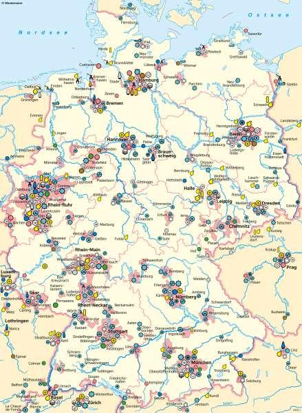Deutschland | Wirtschaft | Deutschland - Wirtschaft | Karte 42/1