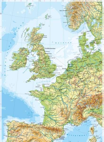 Westeuropa | PhysischeKarte | Westeuropa - PhysischeKarte | Karte 64/1