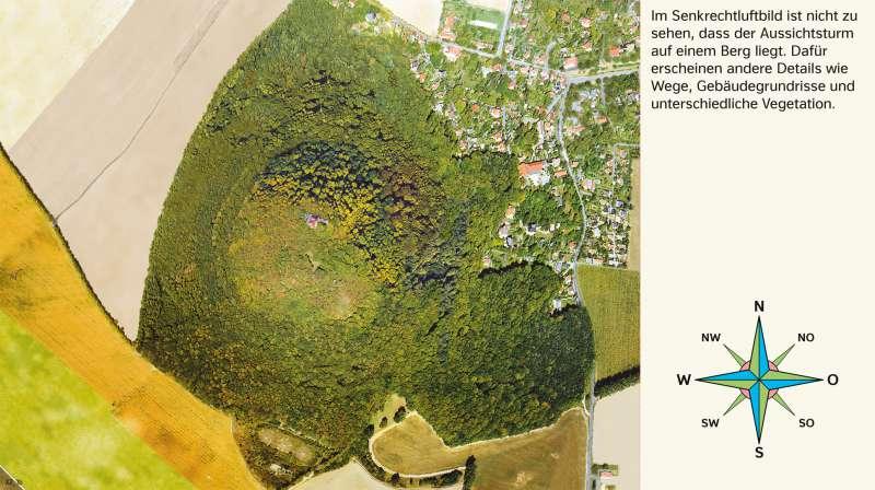 Landeskrone (Oberlausitz) | Senkrechtluftbild | Sachsen - Kartentypen/Berge auf der Karte | Karte 7/6