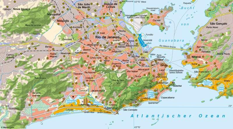 RiodeJaneiro | Soziale Gliederung | Südamerika - Staaten und Bevölkerung | Karte 159/3