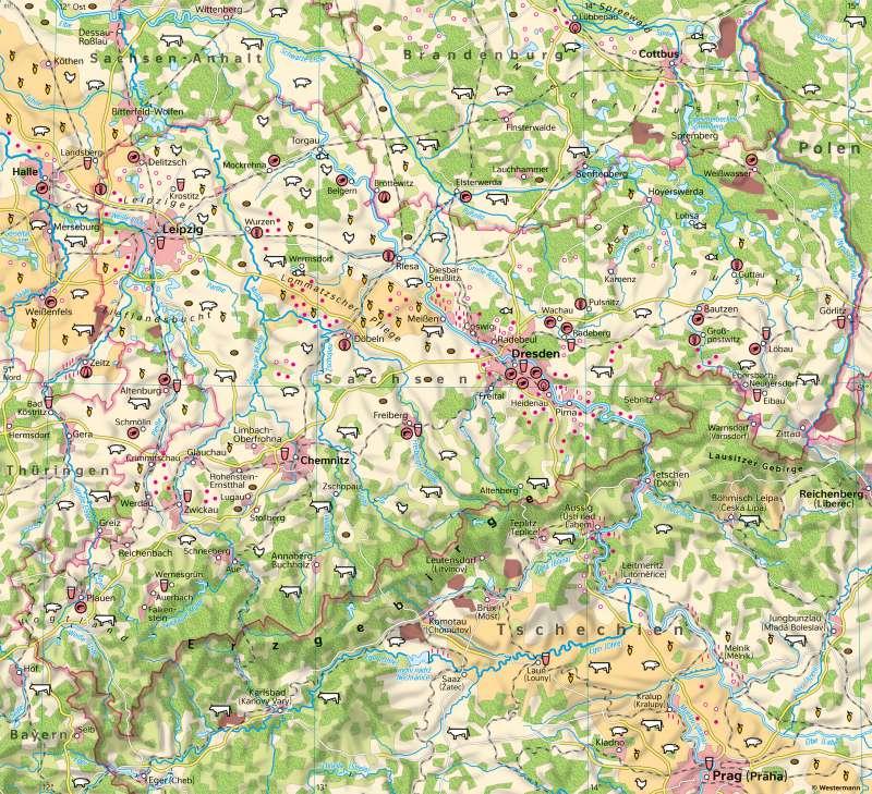 Sachsen | Landwirtschaft | Sachsen - Naturfaktoren und Landwirtschaft | Karte 17/6