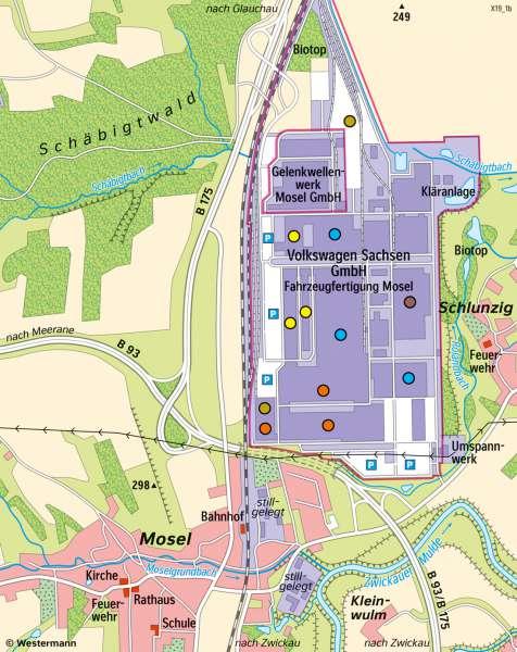 Diercke Weltatlas Kartenansicht Zwickau Mosel Entwicklung