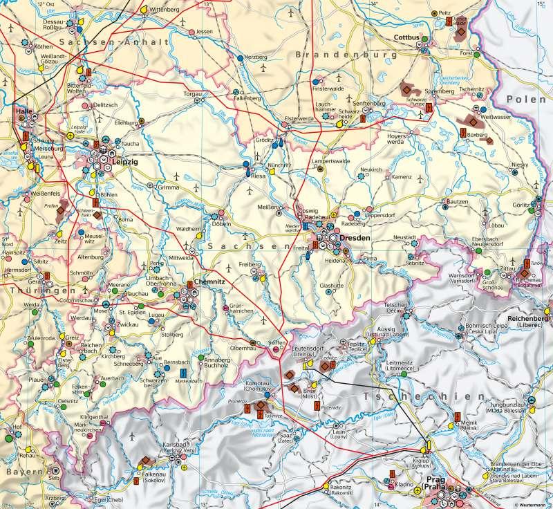 Sachsen | Wirtschaft | Sachsen - Wirtschaft | Karte 19/3