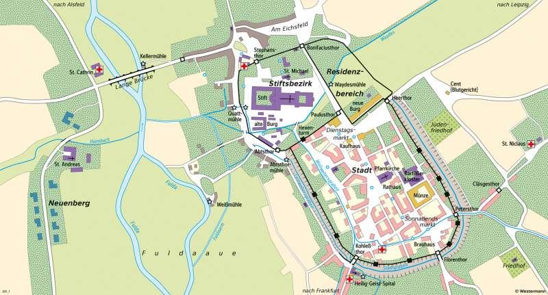 Fulda | Stadt um1500 | Fulda - Räume im Wandel | Karte 24/1