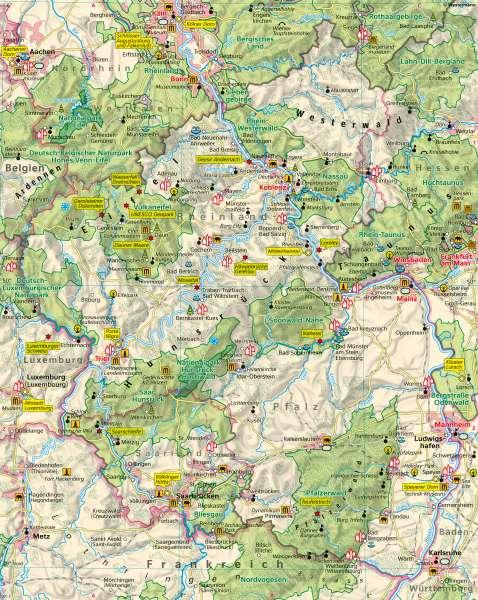 Rheinland-Pfalz | Tourismus undNaturschutz | Rheinland-Pfalz - Tourismus und Naturschutz | Karte 16/1