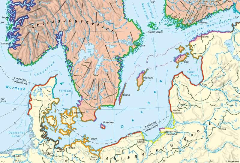 Ostsee | Küstenformen | Mecklenburg-Vorpommern - Naturraum und Ostsee | Karte 15/3