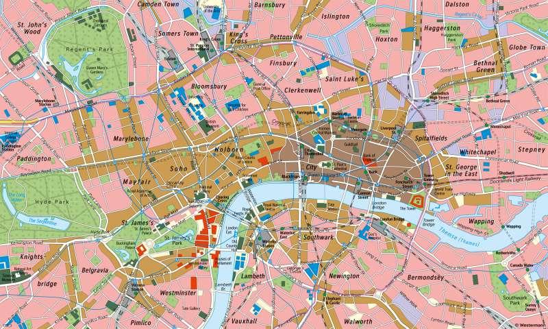 London | Innenstadt | London und Paris - Städtetourismus | Karte 86/2