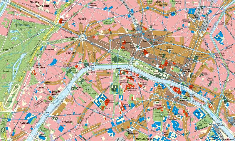 Paris | Innenstadt | London und Paris - Städtetourismus | Karte 87/6