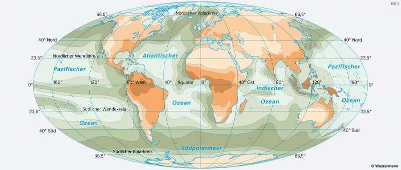 Erde | Pflanzliche Primärproduktion | Erde - Weltmeere | Karte 166/2
