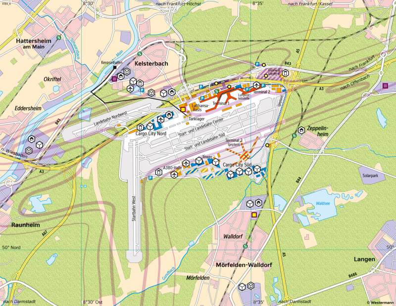 FrankfurtamMain | Flughafen | Deutschland - Verkehr | Karte 47/3
