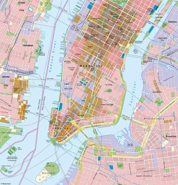 NewYork | Manhattan | Vereinigte Staaten von Amerika (USA) - Städte | Karte 148/3