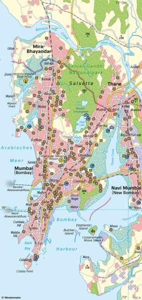 Mumbai | Überflutung nach Monsunregen | Asien - Klima und Monsun | Karte 100/1