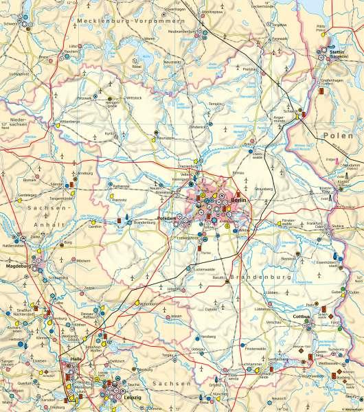 Brandenburg und Berlin | Wirtschaft | Brandenburg und Berlin - Wirtschaft | Karte 20/1