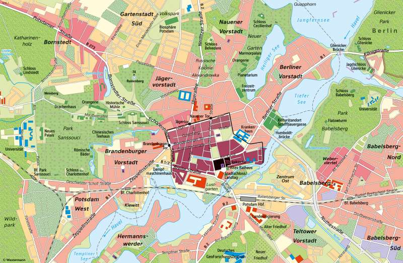 Berlin Potsdam Karte.Diercke Weltatlas Kartenansicht Potsdam Landeshauptstadt 978