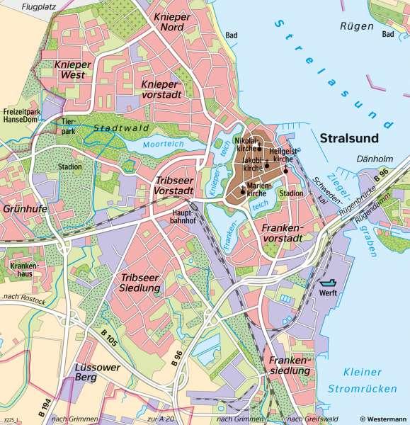 Stralsund Karte.Diercke Weltatlas Kartenansicht Stralsund Heutige