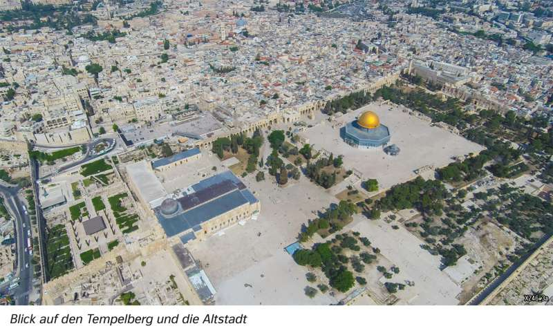 | Blick auf den Tempelberg und die Altstadt | Westasien und Israel - Siedlung | Karte 117/3
