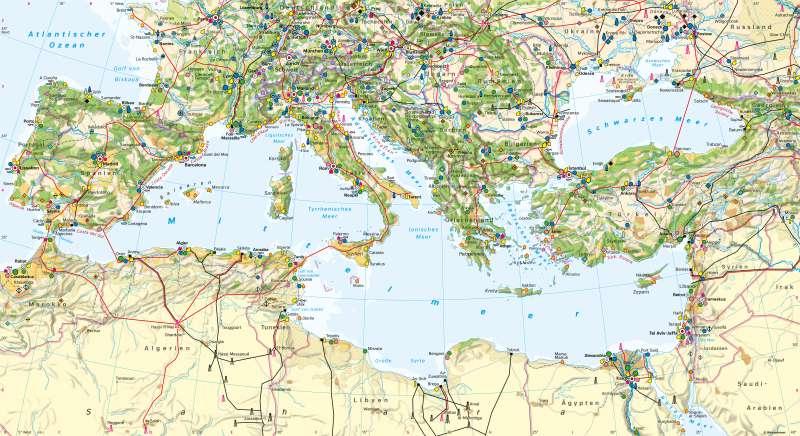 Mittelmeerraum | Wirtschaft und Tourismus | Mittelmeerraum - Wirtschaft und Tourismus | Karte 82/1