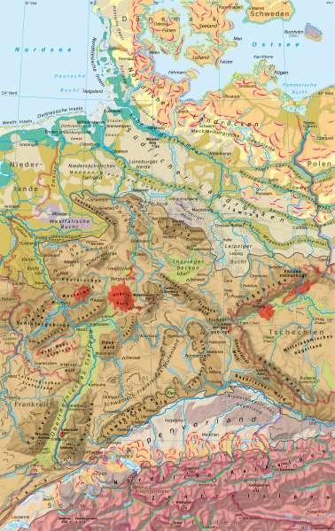 Deutschland | Landschaften | Deutschland - Naturraum | Karte 36/1
