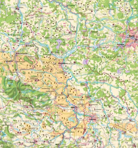Sachsen-Anhalt | Landwirtschaft | Sachsen-Anhalt - Landwirtschaft und Klima | Karte 20/1