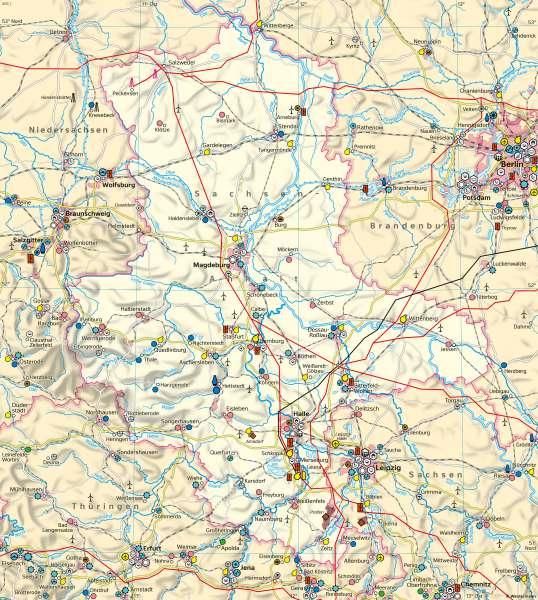 Sachsen-Anhalt | Wirtschaft und Verkehr | Sachsen-Anhalt - Wirtschaft | Karte 22/1