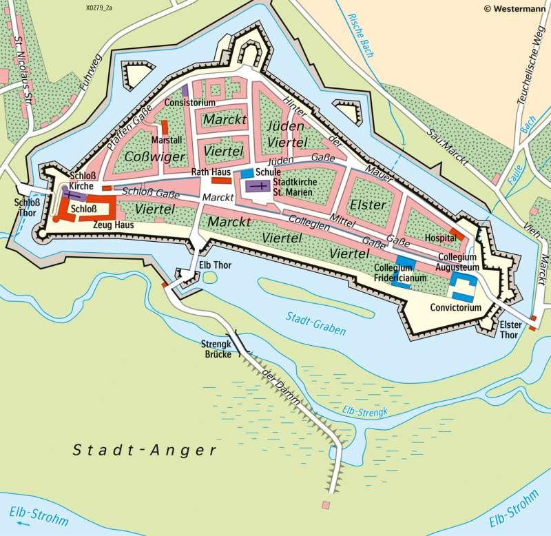 LutherstadtWittenberg | Historische Gebäude als Welterbe | Sachsen-Anhalt - Tourismus und Welterbe | Karte 19/3